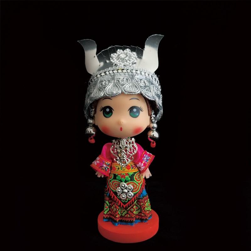 苗族 中国风纯手工工艺品民族芭比娃娃 创意家居婚庆饰品礼品摆件