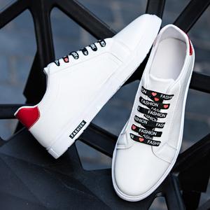春夏季小白鞋男韩版百搭潮流板鞋透气休闲男鞋子潮鞋学生运动白鞋