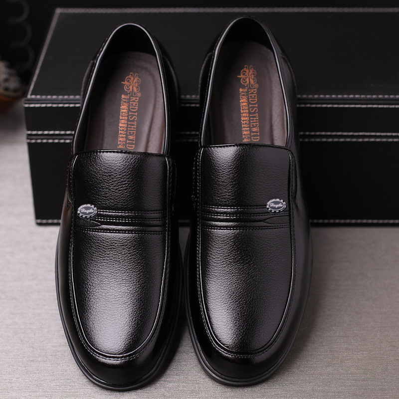 Leather shoes mens business casual mens leather formal mens shoes