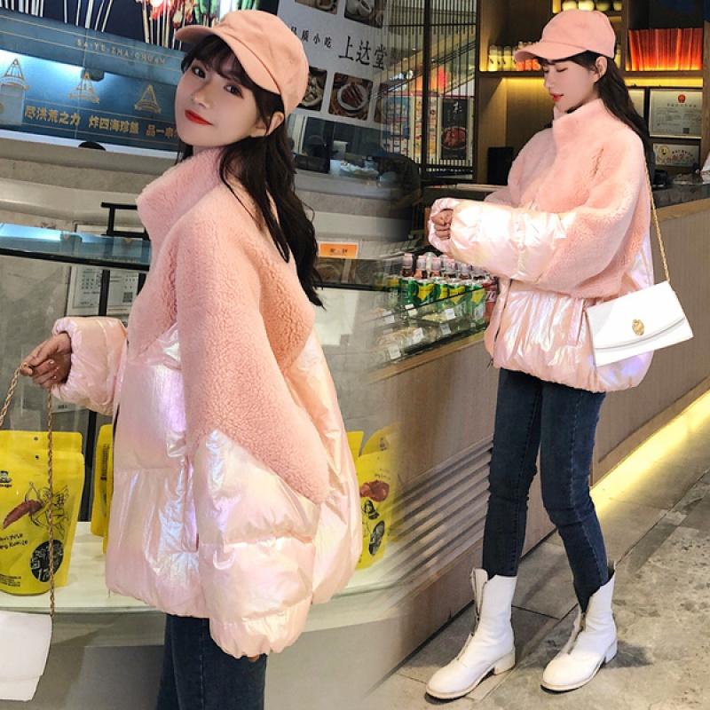 粉红皮草外套