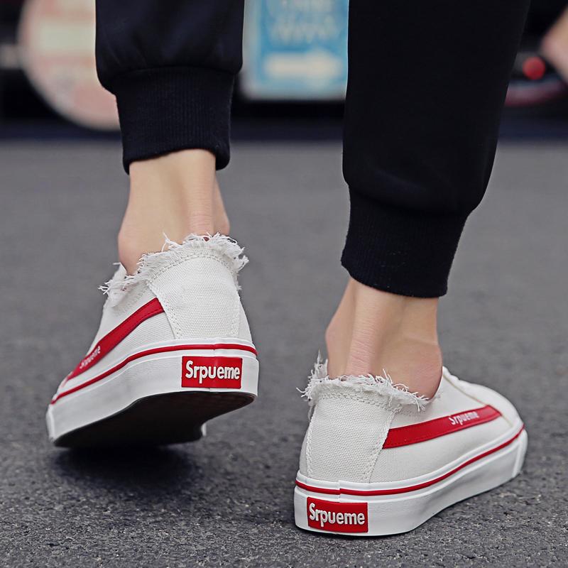 2018新款鞋子男士韩版潮流板鞋透气帆布鞋小白鞋百搭休闲鞋潮夏季