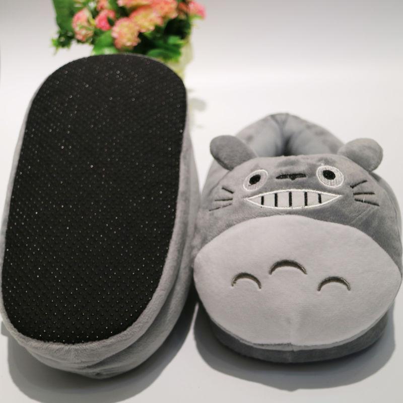 新款韩版可爱龙猫包跟防滑棉拖鞋