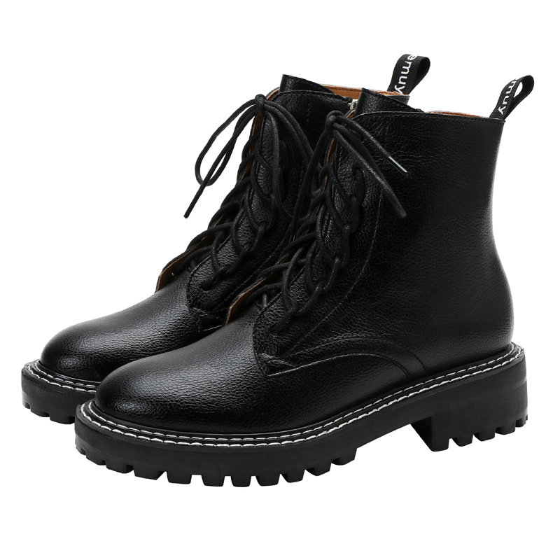 Emuy short boots, fairy wind 2020 new ins Martin boots, all kinds of thick bottomed women's boots, black handsome motorcycle boots
