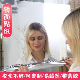 镜面贴纸自粘软镜子全身镜摄影镜面反光膜电梯装饰幼儿园手工镜子图片