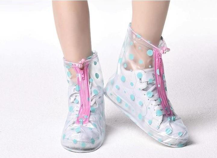 鞋套防潮春男女皮鞋女童耐磨防水脚套短靴雨具雨鞋加厚底旅行女士