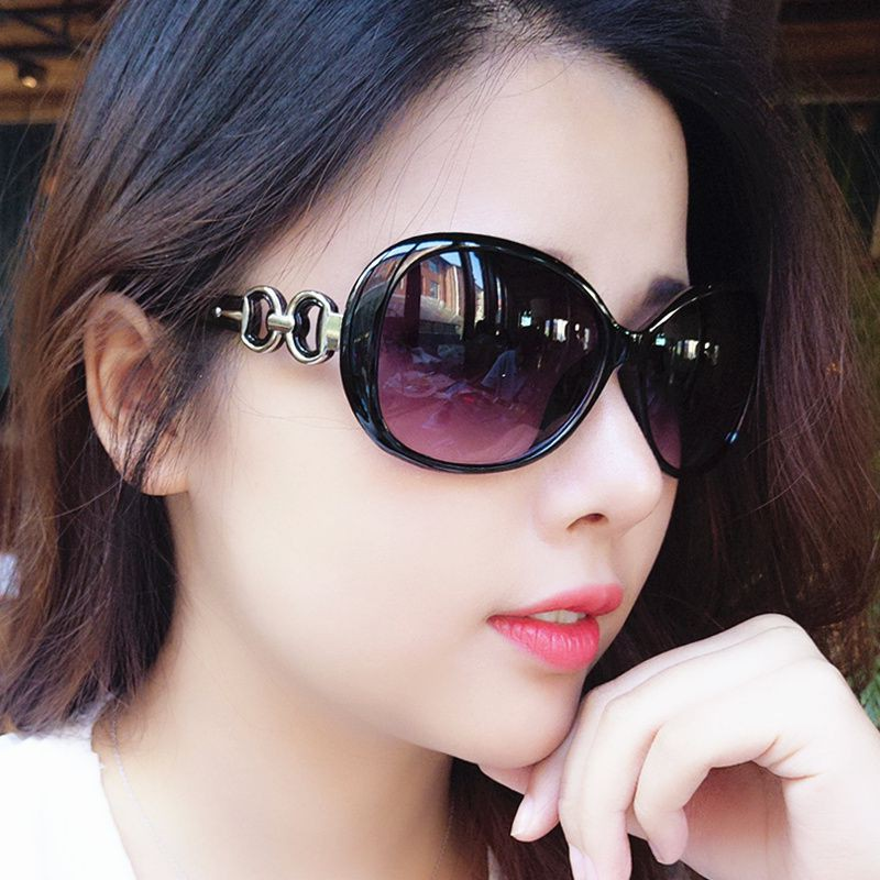 Japan buys XJ sunglasses Fashion Star glasses 2017 new round personality Sunglasses Womens round face South Korea