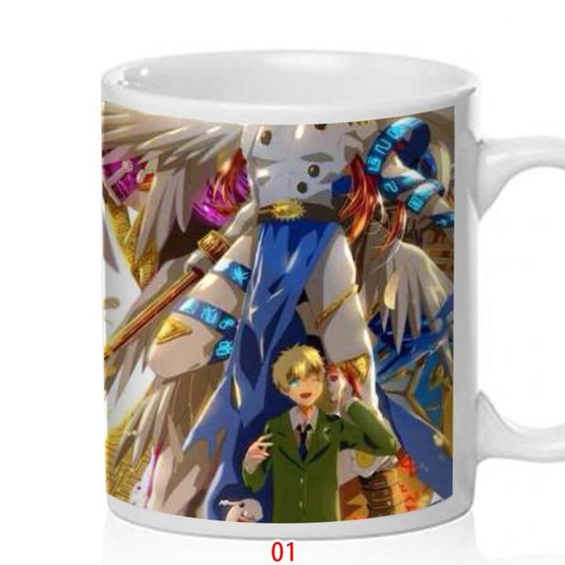 Mug digital baby adventure ceramic creative water cup with lid customized birthday gift Niu 0479