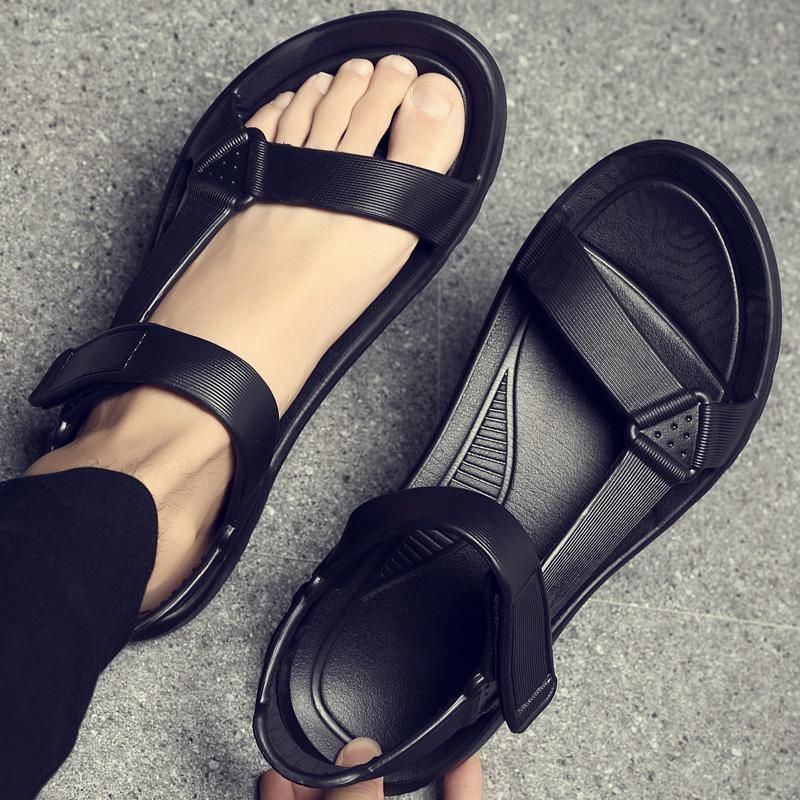 夏季男士凉鞋2021新款凉拖鞋韩版潮流防滑软底百搭运动休闲沙滩鞋