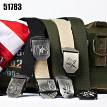51783 Army fan Belt mens canvas special battle belt Double-breasted Commando tactical multifunctional Simple Belt