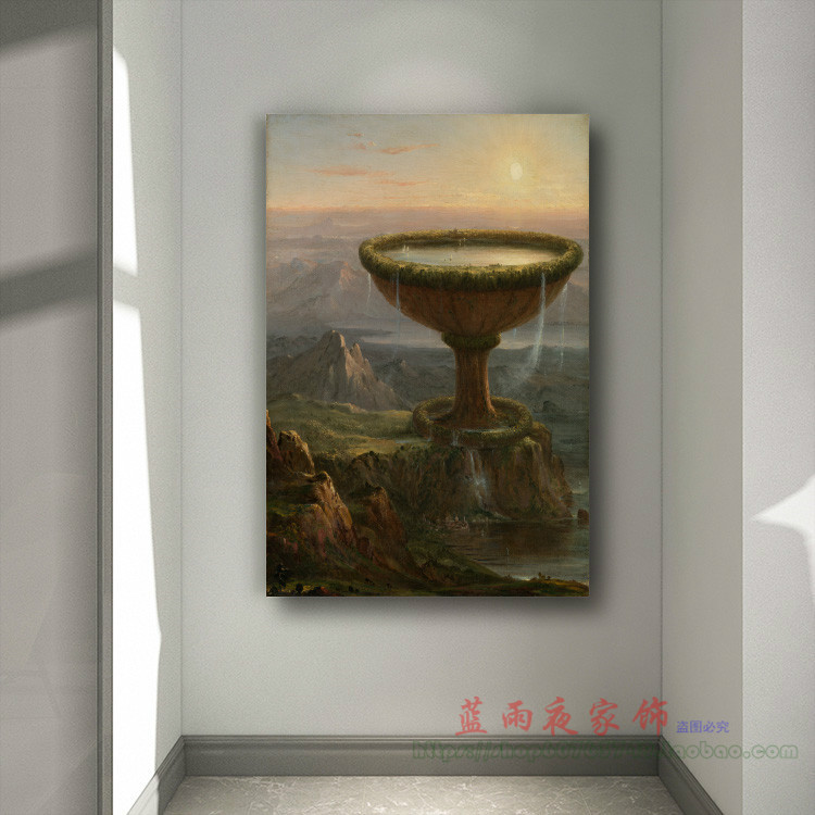 Titans goblet frameless classical painting decorative painting living room painting restaurant porch hanging painting home wall hanging painting spray painting