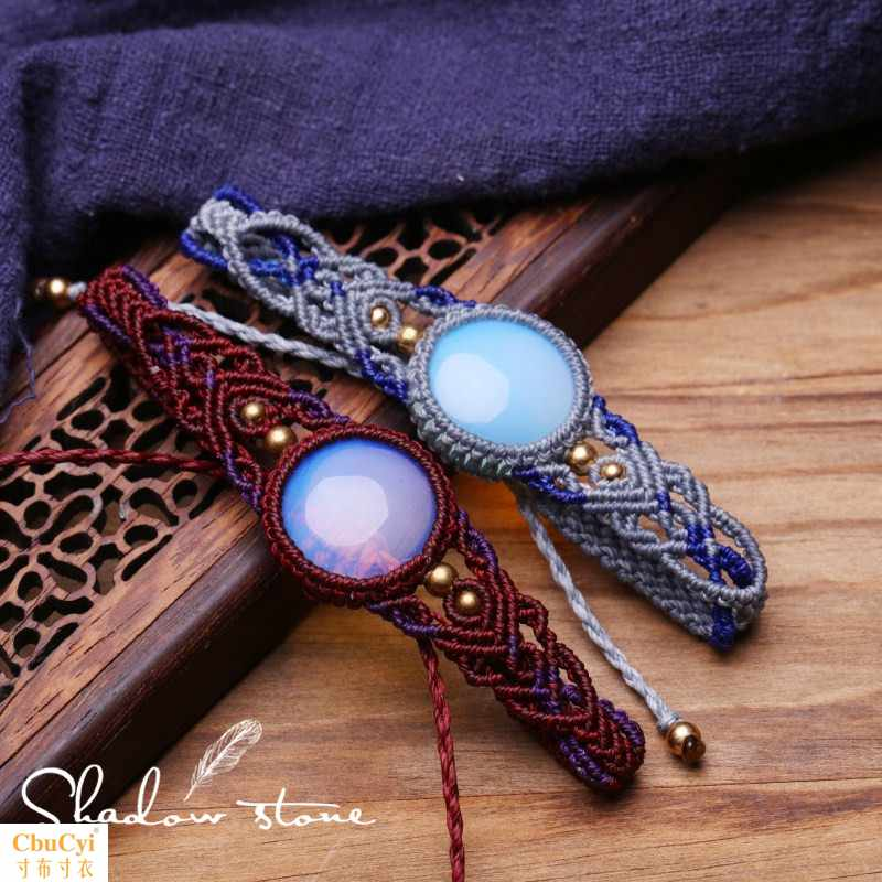 Shadow stone original design pure handmade opal lovers hand rope finished goods in stock