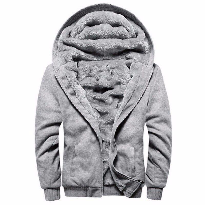 Mens cardigan zipper deep winter oversized sweater mens thickened Hooded Sweater