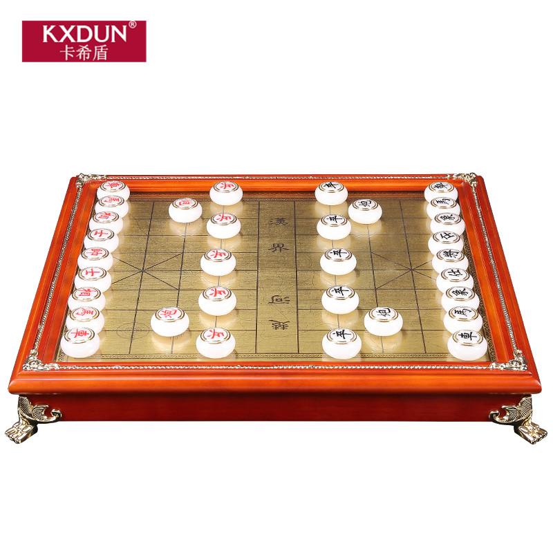 KXDUN/卡希盾中国象棋玉石摆件收藏工艺品送长辈领导商务gn1026