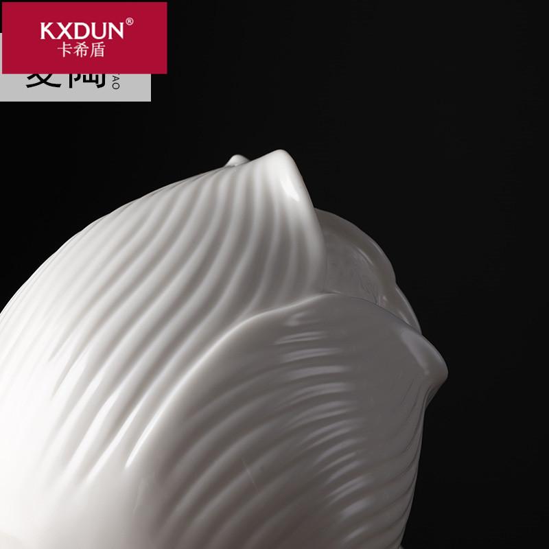 KXDUN/卡希盾麦陶德化白瓷雕塑艺术流水加湿家居摆件yyd0827