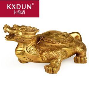 KXDUN/卡希盾纯铜龙龟八卦金钱龟摆件家居龙龟兽 办公室MF0226