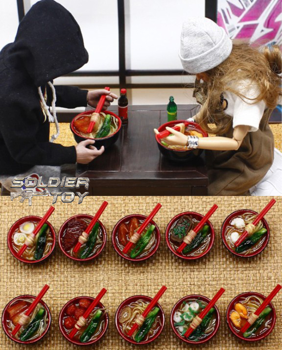 1: 6 soldiers model accessories 6 points baby cloth BJD scene with Ramen model
