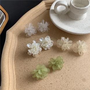 適合夏天的花朵耳環耳釘簡約冷淡風潮韓國氣質女夏季款2020年新款