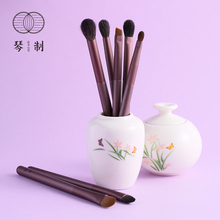 Lilac series makeup brush 12 sets of powder, blush, blush, foundation, high gloss, nose shadow, and eyebrow.