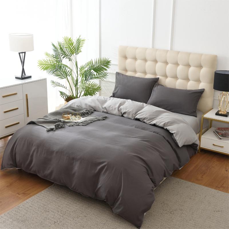 美国梅西百货家单人双人四件套纯色床上用品HOME 简约风纯棉北欧