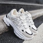 中跟松糕厚底百搭老爹鞋 休闲运动透气跑步鞋 2019秋季 新款 时尚 女鞋
