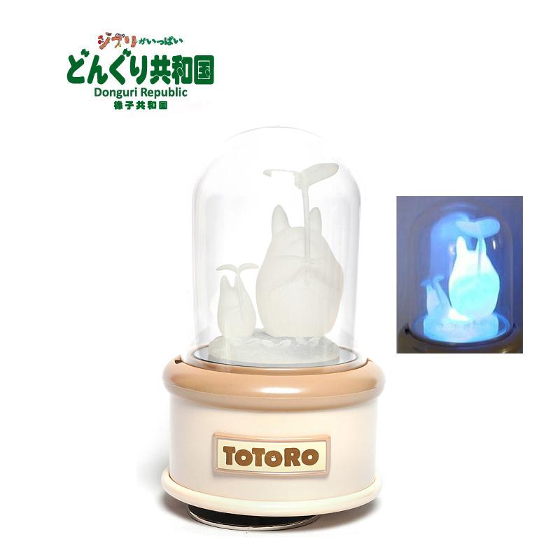 橡子共和国 发光音乐盒龙猫 日本宫崎骏动漫周边八音盒TOTORO正版