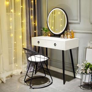 北欧梳妆台网红ins风女简约卧室经济小户型现代化妆桌化妆台带灯