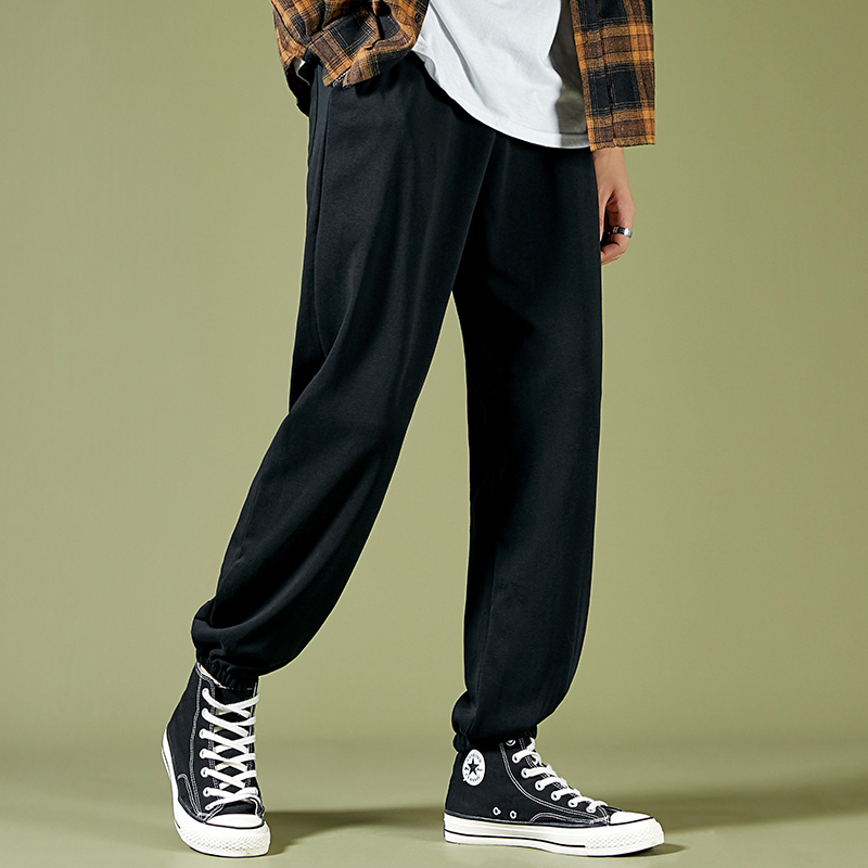 Mens Leggings casual pants loose and versatile sports trend in spring and autumn Harun pants closed pure cotton basketball pants