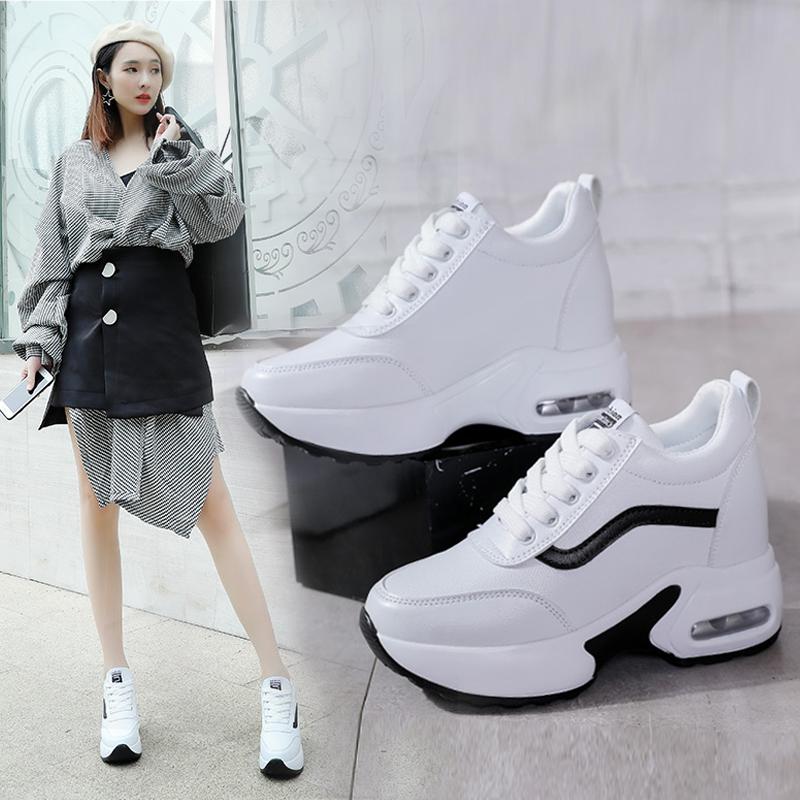 2019内增高鞋女春季运动鞋白鞋韩版百搭鞋子白色小白女鞋2018新款