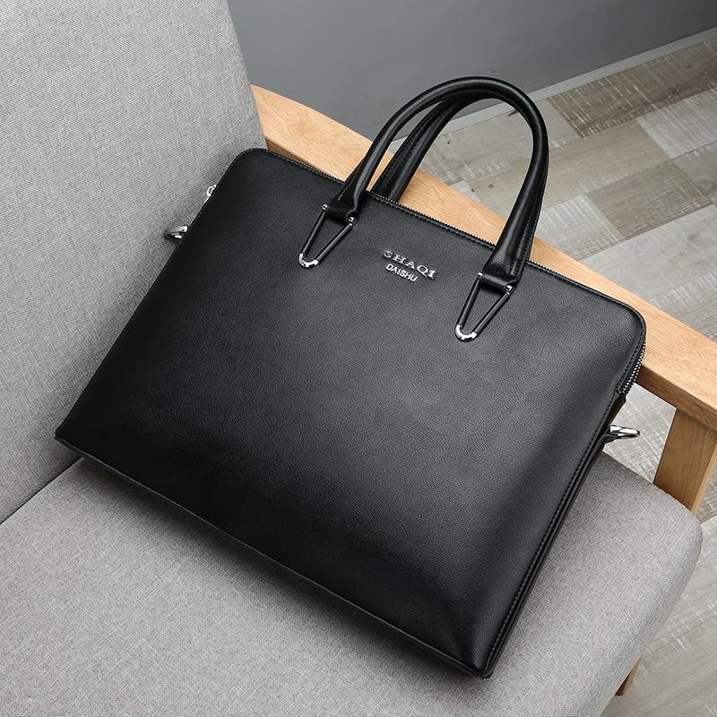 Kangaroo mans bag handbag Korean business briefcase leather mans bag leisure hand bag computer bag