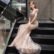 Bridal Party evening dress 2019 new temperament female high end fishtail atmosphere MC fashion slim year