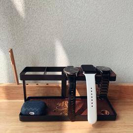 北欧手表首饰玄关钥匙收纳置物架创意桌面戒指耳钉项链手镯首饰盒图片