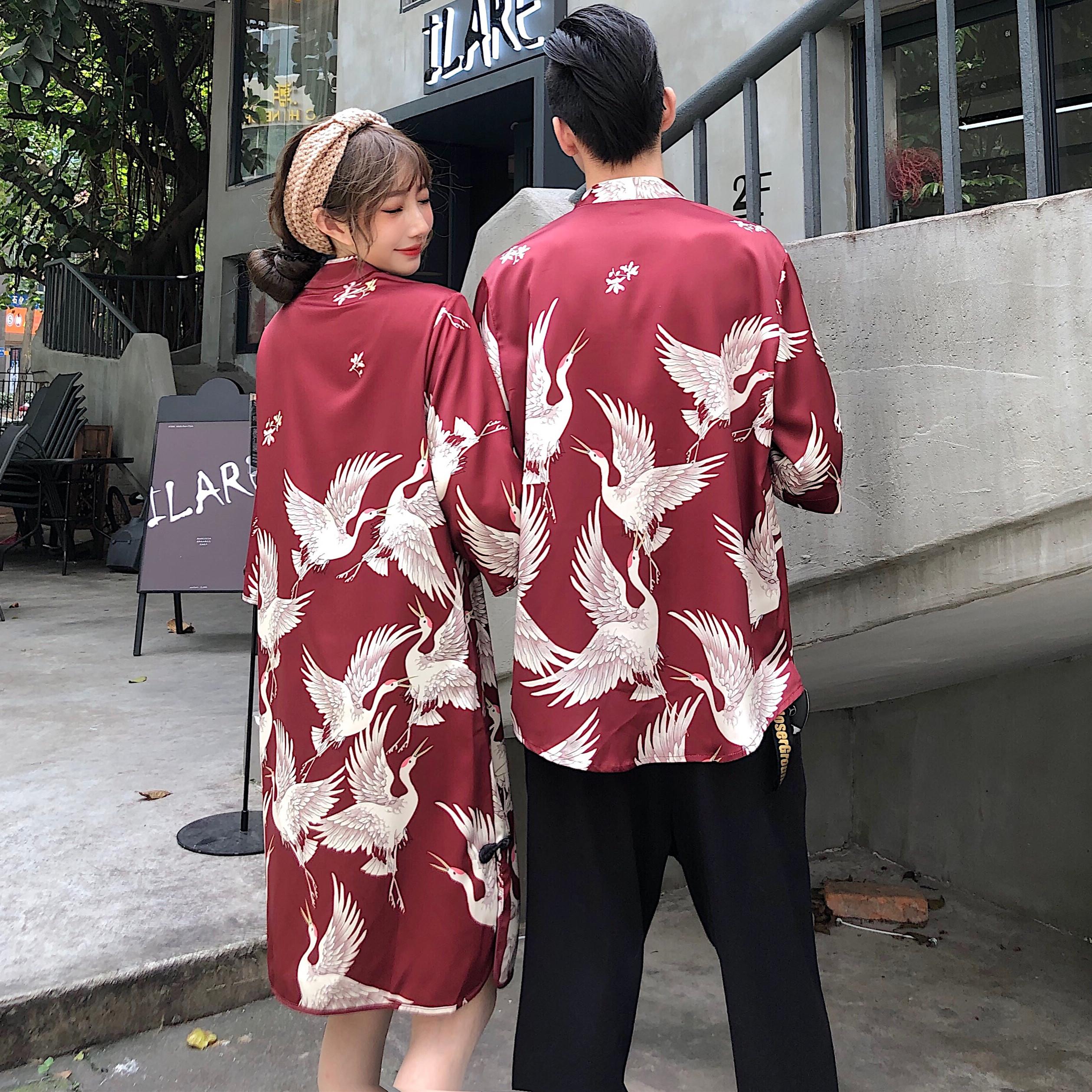 48.00元包邮改良旗袍新式年轻版时尚复古中国风中式唐装男衬衫少女连衣裙宴会