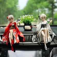 Creative dome girl anime handmade high-end car accessories beautiful girl chassis decoration net red car interior accessories man