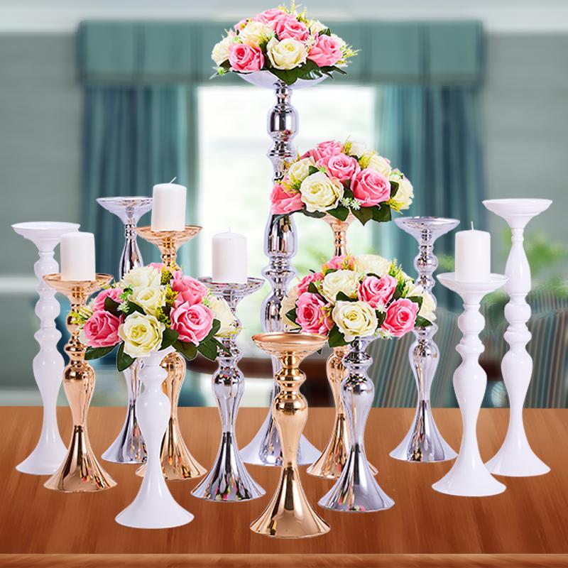 包邮高脚铁艺蜡烛台欧式 美式浪漫烛光晚餐餐桌婚庆烛台摆件个性