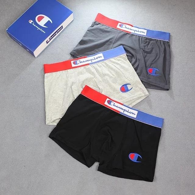 Chaopai mens underwear classic shorts breathable and comfortable boxer underwear Champion Sports pure cotton summer boxer underwear