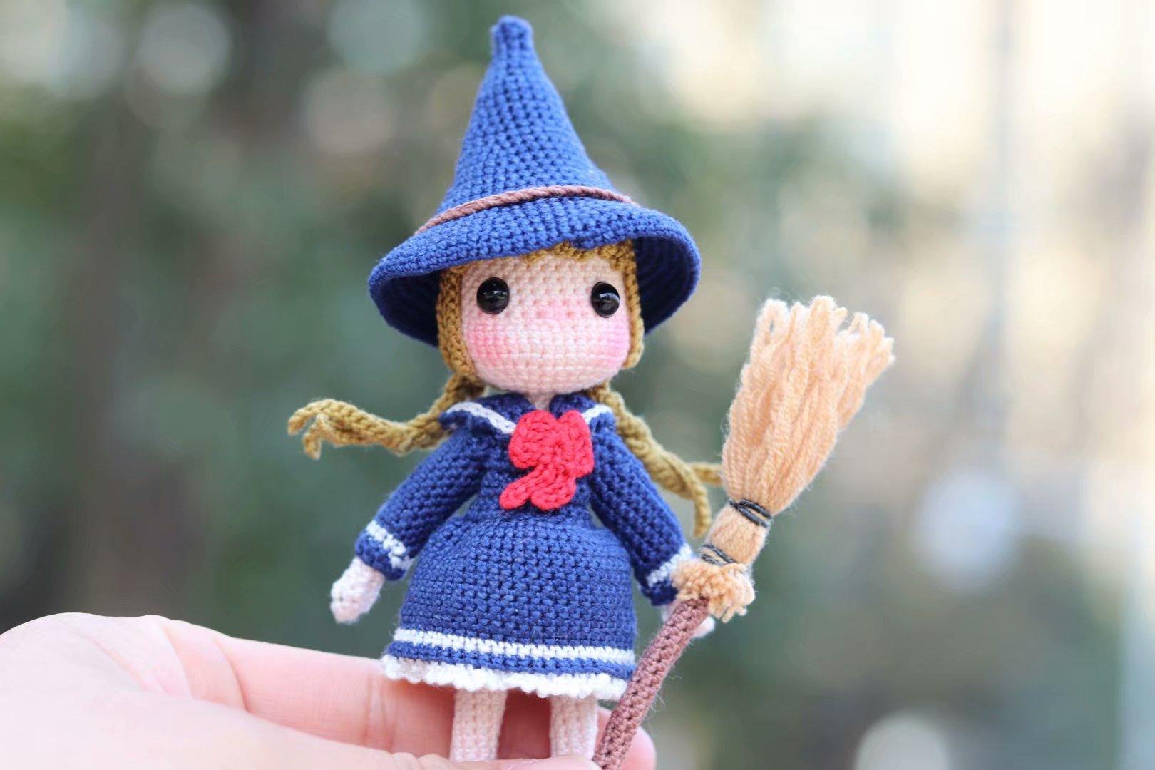 Handmade grocery store Hayao Miyazaki cartoon little witch handmade custom line DIY finished lace line doll gift