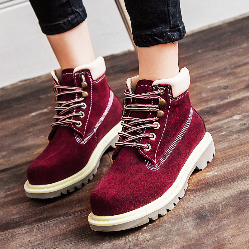 Fall / winter 2019 new lovers Martin boots retro British leather fashion work boots jeans boots motorcycle boots