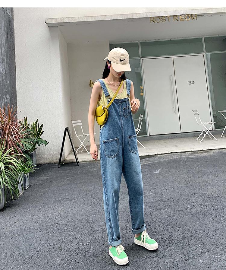2019秋冬款时尚 女 背带裤