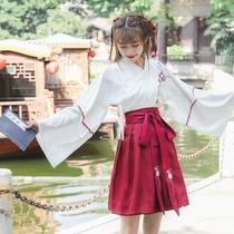 汉元素襦裙日常汉服民国学生班服古风改良女装古装中国风春夏套装