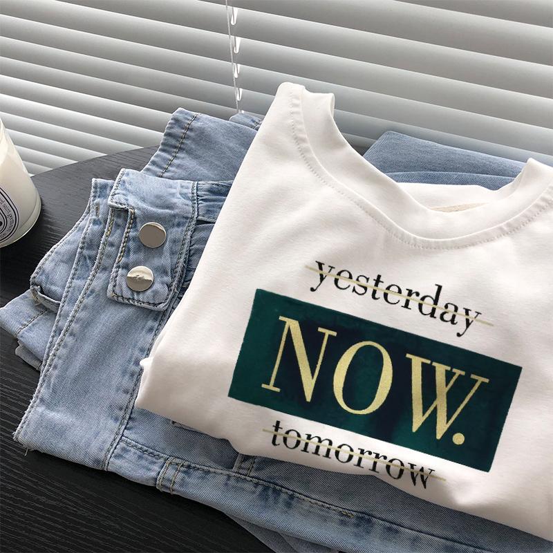 纯棉白色短袖t恤女2020年夏新款韩版复古宽松半袖体桖衫上衣ins潮