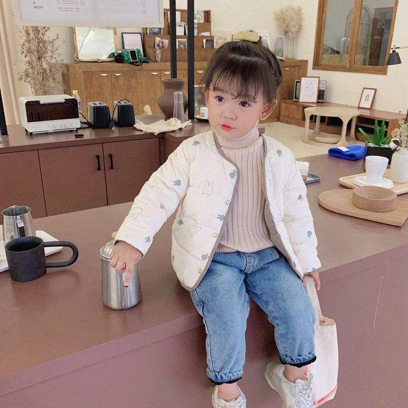 女童短款棉衣冬季新款2019儿童韩版加厚保暖外套宝宝洋气云绒棉袄图片