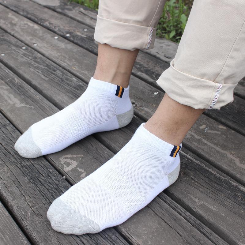 9.9包邮男女士夏季薄款袜子学生网眼短筒篮球低腰全纯棉船袜i子wz
