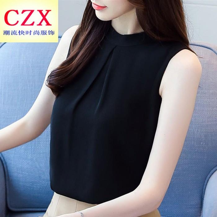 小清新港味chic吊带女夏2021 t恤