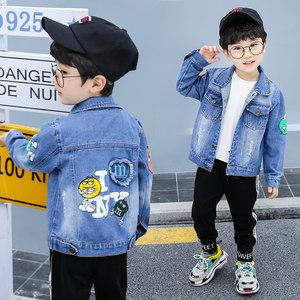 童装男童牛仔外套2021春秋新款宝宝洋气帅儿童小孩牛仔衣韩版潮流