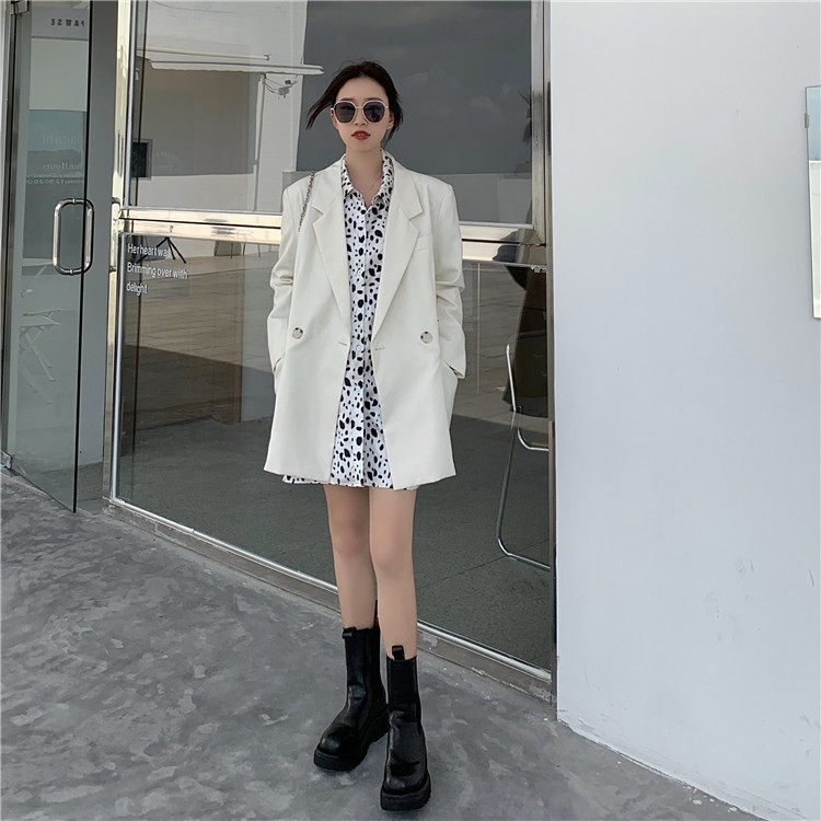 2021 new boutique early autumn new suit coat womens loose top fashion spot shirt two-piece set