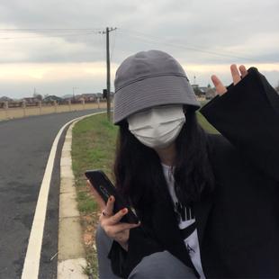 韩国ins水桶帽子女日系小众设计师直筒骑车遮阳渔夫帽 复古款盆帽图片