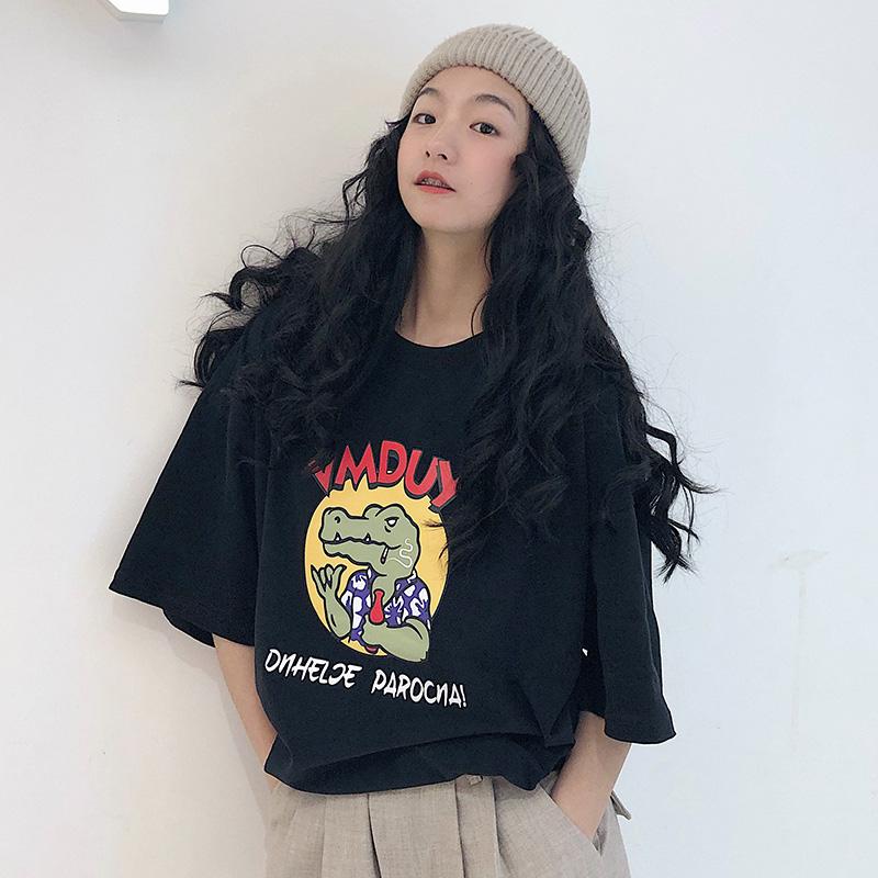 超火cec短袖女港味2019韩版bf t恤(用5.1元券)