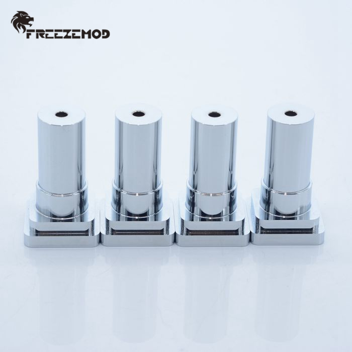 加工CNC通用HJZJPJ水冷散热排支架全铝合金桌面安装架FREEZEMOD