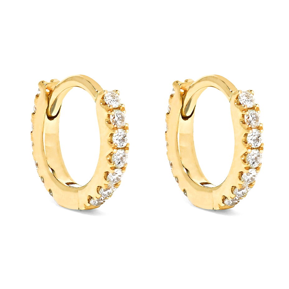 Simple ins wind 2020 new trend ear ring cartilage earring claw inlaid with 3A zircon small earring buckle Huggies