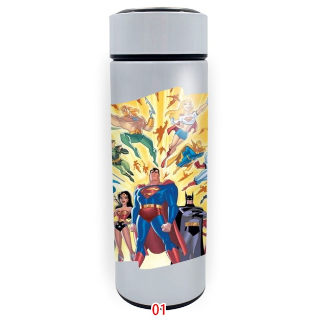 Justice alliance customized straight white thermos cup stainless steel water cup 7742